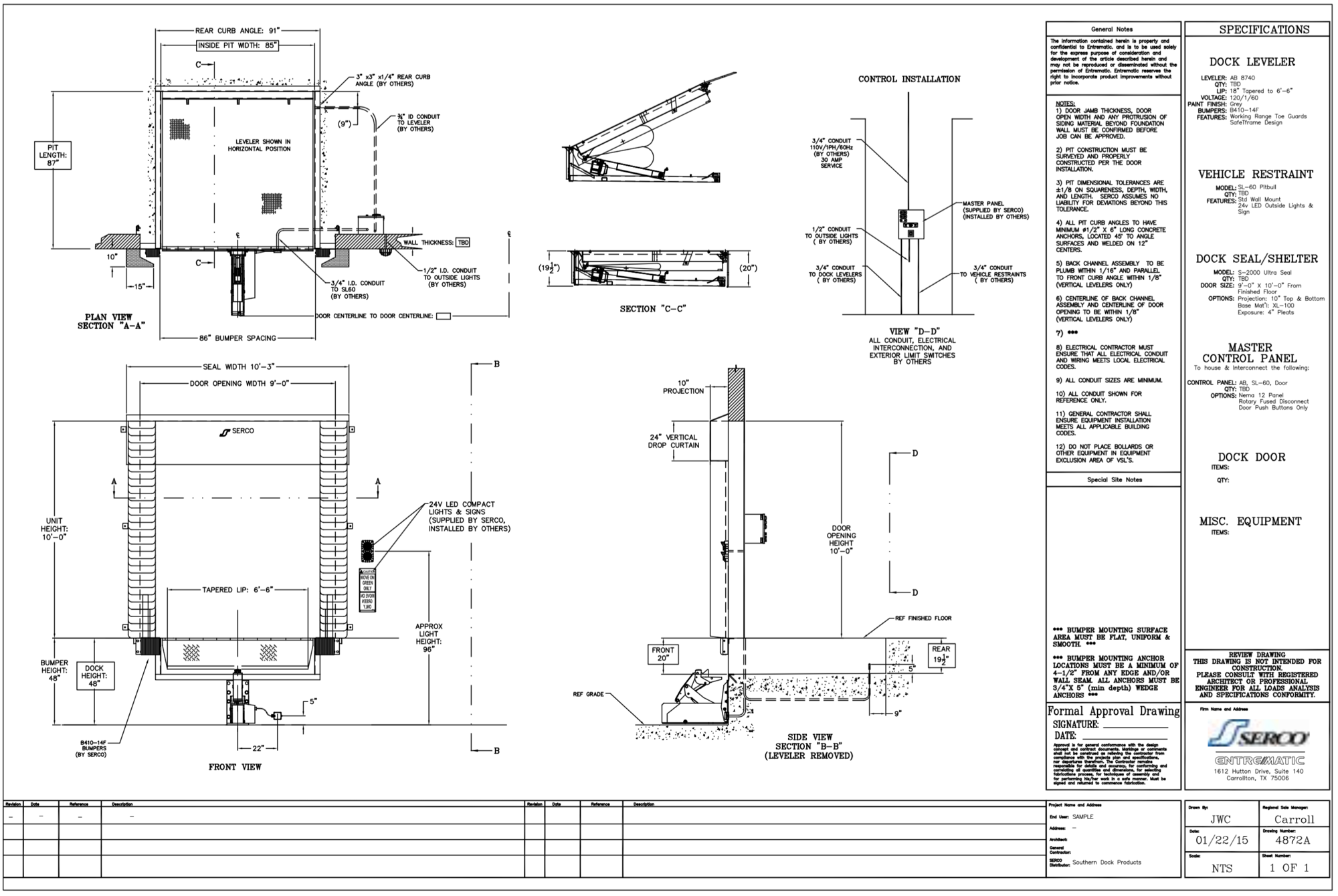 loading dock \u0026 commercial doors faq Loading Dock Levelers Electric we can supply, install and maintain all the required equipment and we will provide you with a cad drawing to your specifications (sample below)